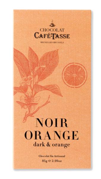 Café-Tasse белгийски шоколад-черен с портокал